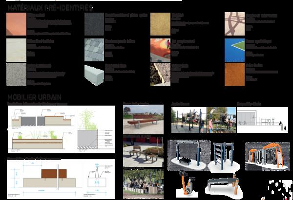Matériaux et mobiliers urbains pré-identifiés
